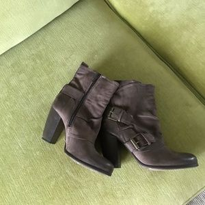 Boutique 9 Leather Buckle Booties